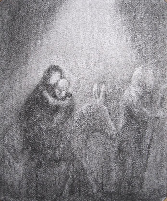 tekening bij advent van duisternis naar licht